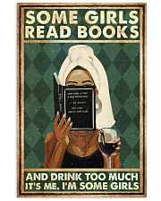 Book Some Girls Read Books And Drink Too Much 16x24 Poster front