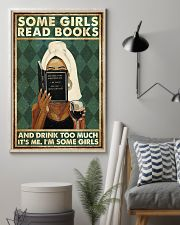 Book Some Girls Read Books And Drink Too Much 16x24 Poster lifestyle-poster-1