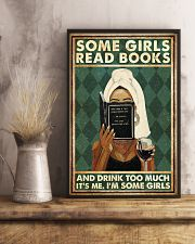 Book Some Girls Read Books And Drink Too Much 16x24 Poster lifestyle-poster-3