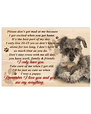 Schnauzer Remember I Love You 17x11 Poster front