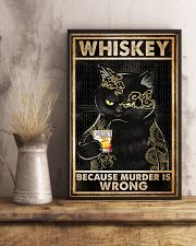 Whiskey Because Murder Is Wrong 16x24 Poster lifestyle-poster-3