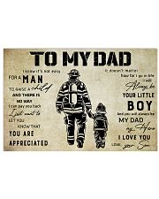 Firefighter To My Dad 24x16 Poster front