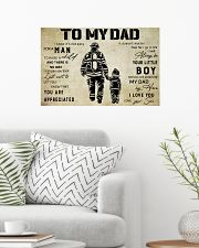 Firefighter To My Dad 24x16 Poster poster-landscape-24x16-lifestyle-01