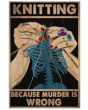Knitting Because Murder Is Wrong 11x17 Poster front