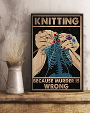 Knitting Because Murder Is Wrong 11x17 Poster lifestyle-poster-3