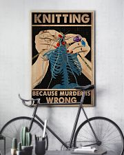 Knitting Because Murder Is Wrong 11x17 Poster lifestyle-poster-7