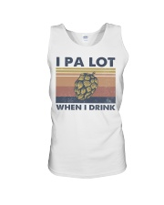 Beer IPA Lot When I Drink Unisex Tank tile