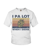 Beer IPA Lot When I Drink Youth T-Shirt tile
