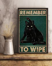 Cat Remember To Wipe 16x24 Poster lifestyle-poster-3