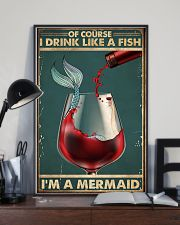 Mermaid Of Course I Drink Like A Fish Poster 11x17 Poster lifestyle-poster-2