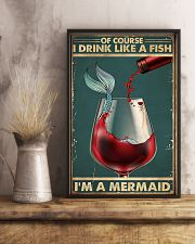 Mermaid Of Course I Drink Like A Fish Poster 11x17 Poster lifestyle-poster-3