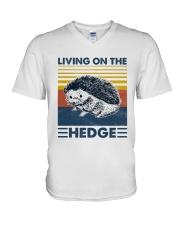 Hedgehog Living On The Hedge V-Neck T-Shirt tile
