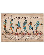 Basketball God Says You Are 17x11 Poster front
