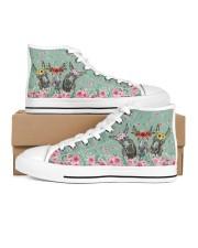 Fishing Flower Shoes Women's High Top White Shoes thumbnail