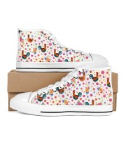 Chicken Flower Shoes Men's High Top White Shoes tile