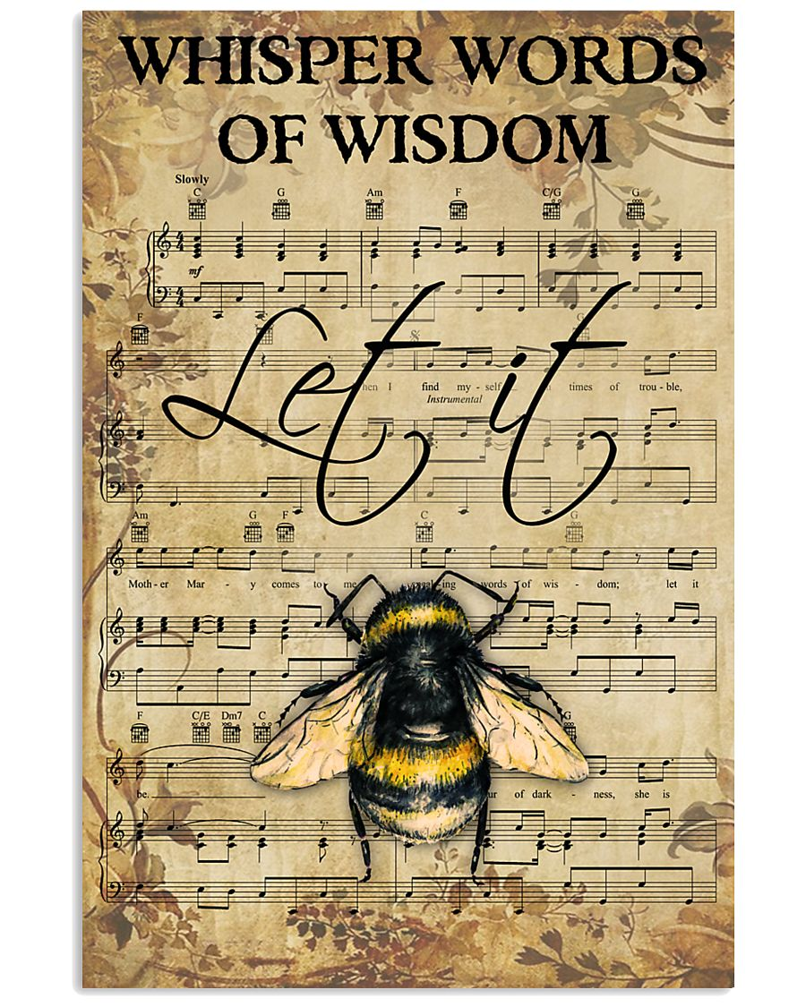 Hippie Bee Song 11x17 Poster