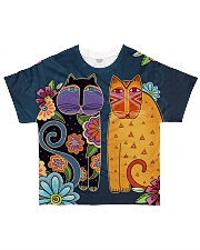 Cat 3D Pattern All-over T-Shirt front