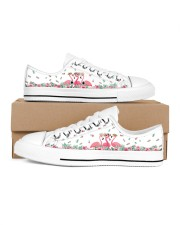Flamingos Happy Together Men's Low Top White Shoes thumbnail