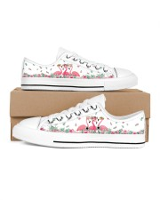 Flamingos Happy Together Women's Low Top White Shoes inside-right-outside-right