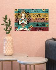 Yoga I'm Mostly Peace Love And Light 17x11 Poster poster-landscape-17x11-lifestyle-21