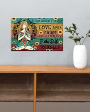 Yoga I'm Mostly Peace Love And Light 17x11 Poster poster-landscape-17x11-lifestyle-24