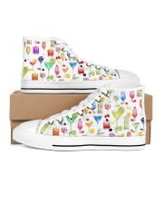 Cocktail Gin Pattern Shoes Men's High Top White Shoes tile