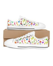 Cocktail Gin Pattern Shoes Men's Low Top White Shoes tile