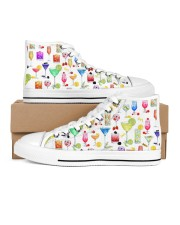 Cocktail Gin Pattern Shoes Women's High Top White Shoes tile