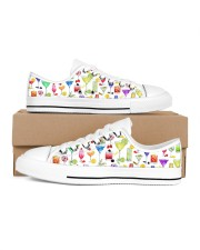 Cocktail Gin Pattern Shoes Women's Low Top White Shoes tile