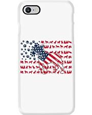 Pitbull Dog Flag Us Phone Case tile