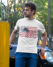 Pitbull Dog Flag Us Classic T-Shirt apparel-classic-tshirt-lifestyle-front-44