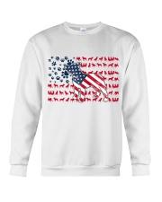 Pitbull Dog Flag Us Crewneck Sweatshirt tile