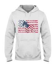 Pitbull Dog Flag Us Hooded Sweatshirt tile
