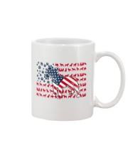 Pitbull Dog Flag Us Mug tile