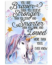 Unicorn You Are Braver 11x17 Poster front
