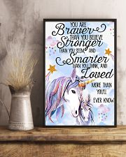 Unicorn You Are Braver 11x17 Poster lifestyle-poster-3