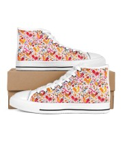 Chicken Beauty Many Patterns  Women's High Top White Shoes inside-left-outside-left