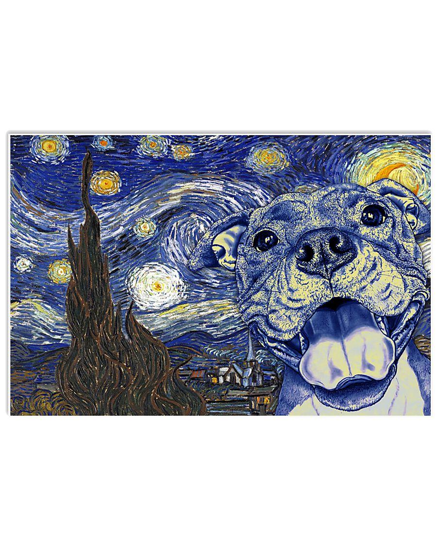 Pit Bull Van Gogh   17x11 Poster