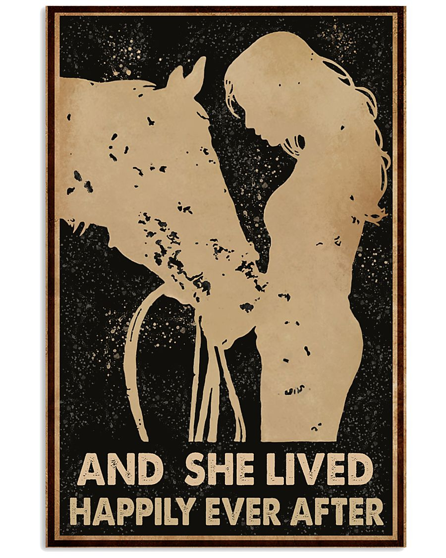 Horse And She Lived Happily Ever After 11x17 Poster