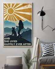 Hiking And She Lived Happily 11x17 Poster lifestyle-poster-1