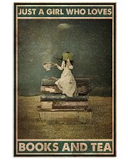 BOOK JUST A GIRL WHO LOVES BOOKS AND TEA 16x24 Poster front