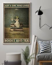 BOOK JUST A GIRL WHO LOVES BOOKS AND TEA 16x24 Poster lifestyle-poster-1
