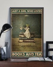 BOOK JUST A GIRL WHO LOVES BOOKS AND TEA 16x24 Poster lifestyle-poster-2