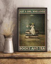 BOOK JUST A GIRL WHO LOVES BOOKS AND TEA 16x24 Poster lifestyle-poster-3