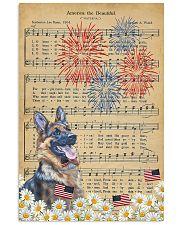 German Shepherd America The Beautiful 16x24 Poster front