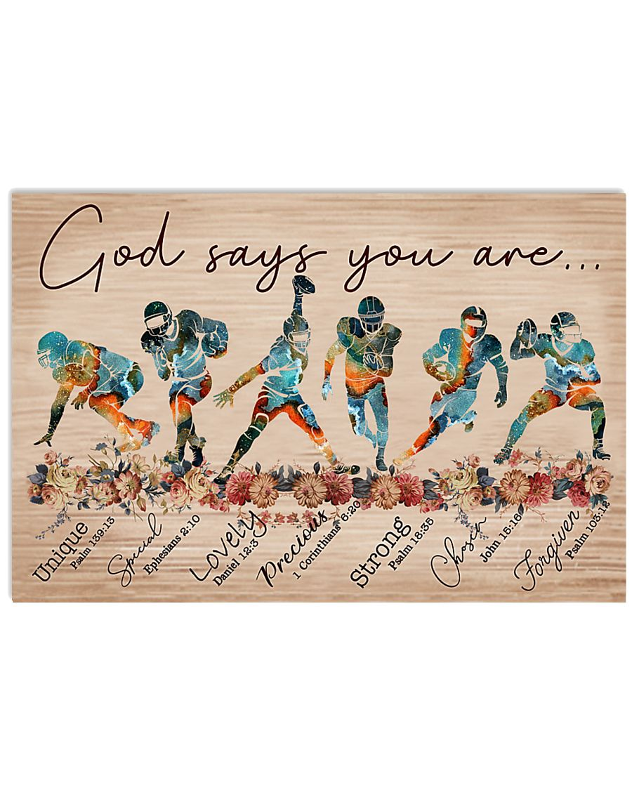 American Football God Says You Are 17x11 Poster
