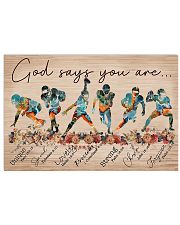 American Football God Says You Are 17x11 Poster front