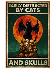 Cat Easily Distracted By Cats And Skull 16x24 Poster front