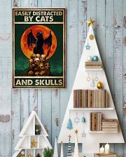 Cat Easily Distracted By Cats And Skull 16x24 Poster lifestyle-holiday-poster-2