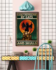 Cat Easily Distracted By Cats And Skull 16x24 Poster lifestyle-poster-6